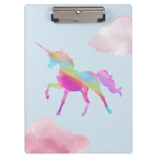 Carpeta De Pinza Tablero - el unicornio del arco iris