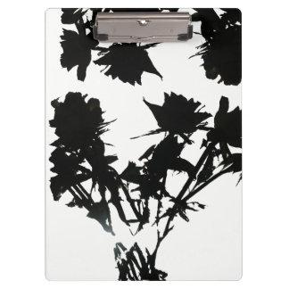 Carpeta De Pinza Tablero negro de los rosas