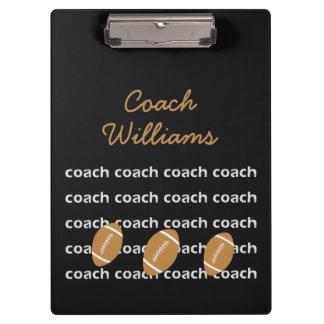 Carpeta De Pinza Tablero personalizado entrenador de fútbol