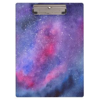 Carpeta De Pinza Tablero ultravioleta de la galaxia