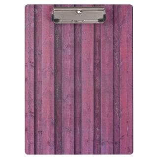 Carpeta De Pinza Tableros de madera rosados elegantes
