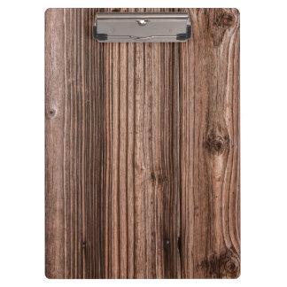 Carpeta De Pinza Textura de madera natural de Brown