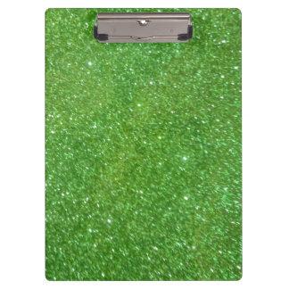 Carpeta De Pinza Textura verde del extracto del brillo