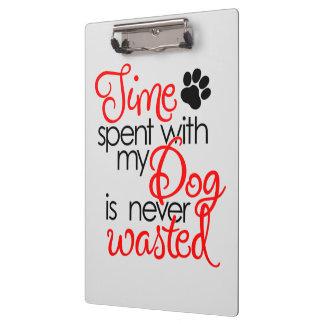 Carpeta De Pinza Tiempo del perro de la calidad