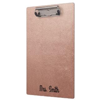 Carpeta De Pinza Tono color de rosa personalizado del efecto