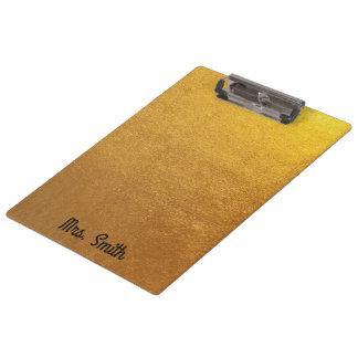 Carpeta De Pinza Tono personalizado de la hoja de oro