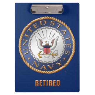 Carpeta De Pinza U.S. Tablero jubilado marina de guerra