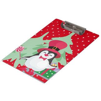 Carpeta De Pinza Un pingüino festivo - 1