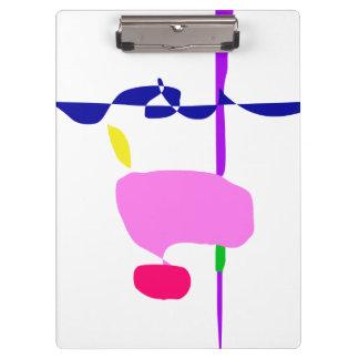 Carpeta De Pinza Una fruta rosada