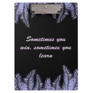 Carpeta De Pinza Usted desea a veces, usted aprende a veces el