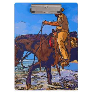 Carpeta De Pinza Vaquero montado