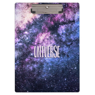 Carpeta De Pinza Vía láctea de la foto del universo en cielo