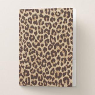 Carpeta del bolsillo del estampado leopardo