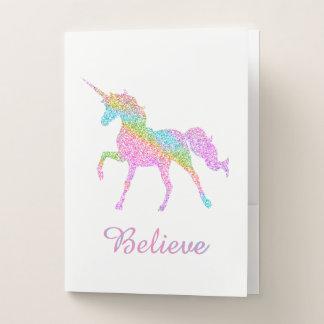 Carpeta del bolsillo del unicornio
