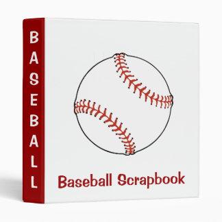 Carpeta del libro de recuerdos del béisbol carpeta 2,5 cm