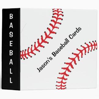 Carpeta del libro de recuerdos del béisbol carpeta 5 cm