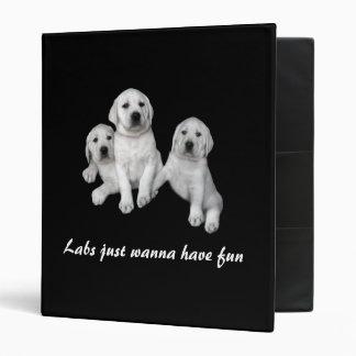Carpeta del perrito del labrador retriever carpeta 2,5 cm