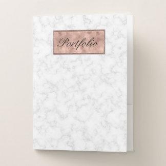 Carpeta elegante gris blanca del bolsillo del
