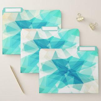Carpetas de archivos abstractas verde azuladas del