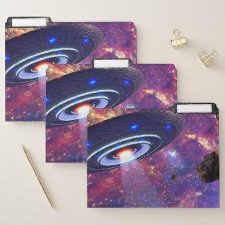 Carpetas de archivos de la galaxia del UFO