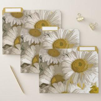 Carpetas de archivos del diseño de las margaritas