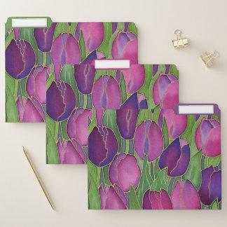 Carpetas de archivos púrpuras del diseño de los