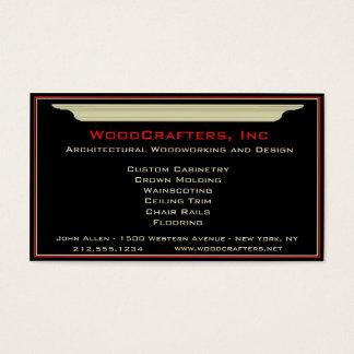 Carpintería arquitectónica y de encargo tarjeta de negocios