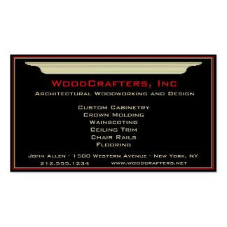 Carpintería arquitectónica y de encargo plantillas de tarjetas de visita