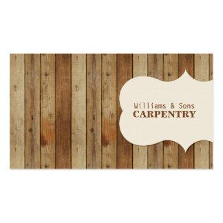 Carpintería de madera tarjetas de visita