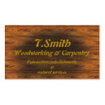 carpintería plantilla de tarjeta de visita