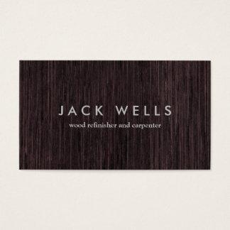 Carpintería rústica del carpintero del grano de tarjeta de visita