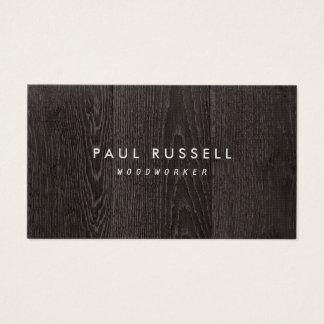 Carpintería rústica del grano de madera oscuro tarjeta de negocios