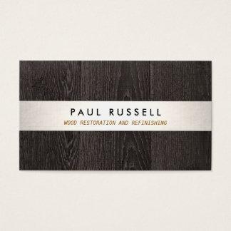 Carpintería rústica y suelo del grano de madera tarjeta de visita