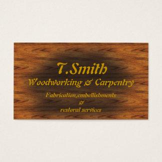 carpintería tarjeta de negocios