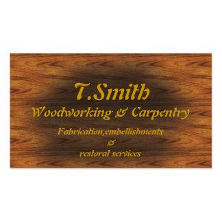carpintería tarjetas de visita