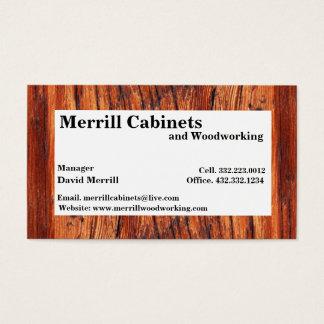 Carpintería/tarjeta de visita de los gabinetes tarjeta de visita