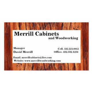 Carpintería/tarjeta de visita de los gabinetes