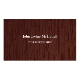 Carpintería - tarjeta de visita de madera oscura