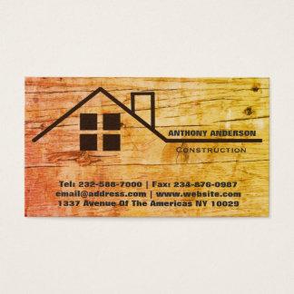 Carpintería y construcción de la carpintería tarjeta de visita