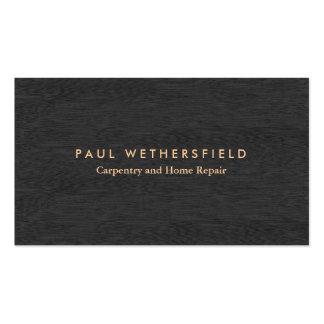 Carpintería y mantenimiento de madera oscuros tarjetas de visita