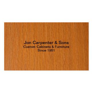 Carpintero-Carpintería Tarjetas Personales