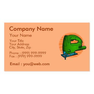 Carpintero de la profesión tarjetas de visita