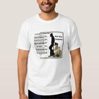 Carpintero de Rick Alan Camiseta