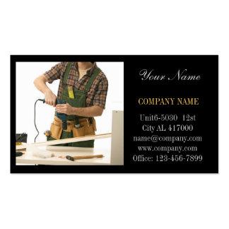 Carpintero moderno de la carpintería de la manitas tarjetas de visita