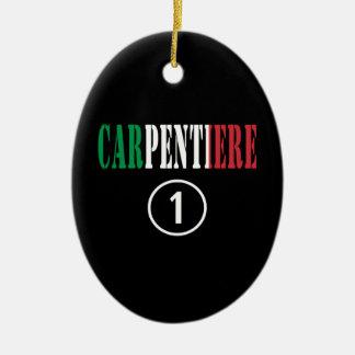 Carpinteros italianos: Uno de Carpentiere Numero Adorno Ovalado De Cerámica
