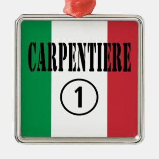 Carpinteros italianos: Uno de Carpentiere Numero Adorno Cuadrado Plateado