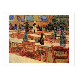Carrel del restaurante en Arles, bella arte de Van Postal