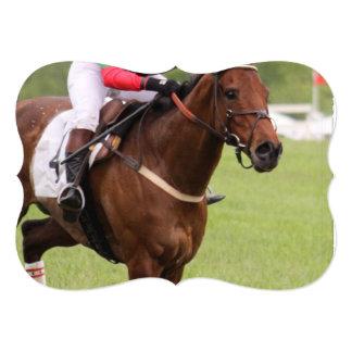 Carrera de caballos invitación 12,7 x 17,8 cm