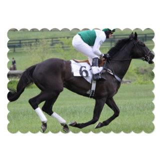 Carrera de caballos anuncio