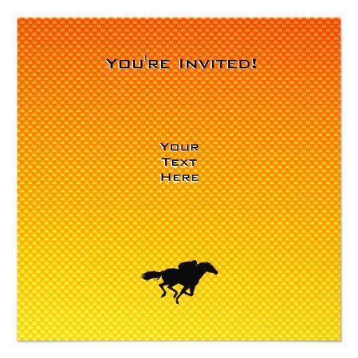 Carrera de caballos invitación personalizada